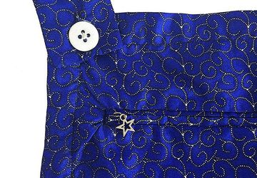 Blue African Print Dungarees