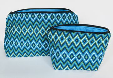 Zig Zag Matching Travel Bag, Travel Cases, Zipper Bag, School Supply Bag, Teacher Gift, Gift under 20