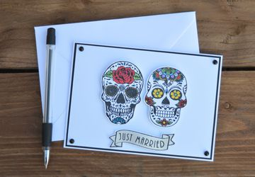 Sugar Skull Wedding Card
