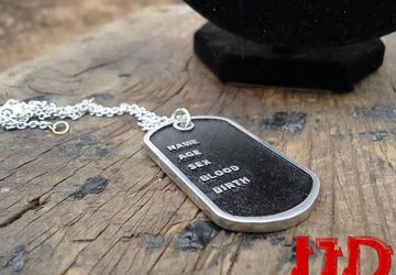 Dog Tag - Dog Tags Pendant - Dog Tags for Men - Dog Tag Necklace - Dog Tag Pendant - Silver Dog Tag - Men Jewelry - Men Necklace