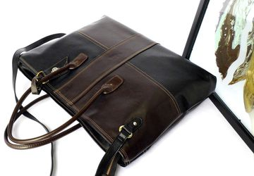 Brown laptop bag, Vegan leather laptop bag, Large computer tote bag, Computer bag for women, Black bag, Ladies work bag