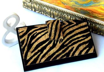 Zebra Print Travel Wallet
