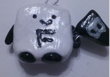 Black Friday Creature polymer clay charm