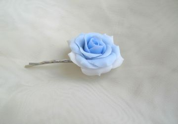 Bobby pin with rose (cold porcelain)