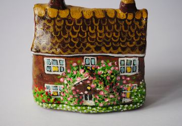 Enchanting English Rose Cottage Sculpture