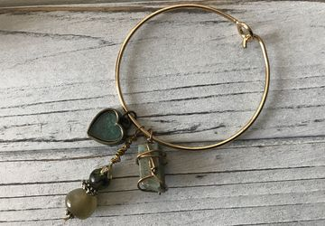 Silver, gold, rose bangles