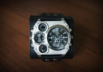 Men's watch with compass
