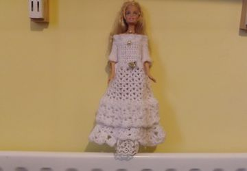 Barbie dolls pretty crochet dress