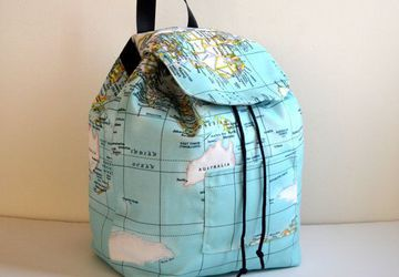 Maps backpack Back To School -World Maps Printed Backpack,Map Backpack/Travel,School,Daily Backpack/Unisex Rucksack