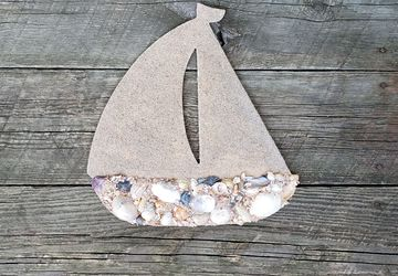 Shell Covered Sailboat