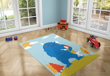 Monster Love, PVC Carpet print, kids Room Decor ,Boys Carpets, Boys Nursery Art, Gift for Boys, Art for Boys Room, Monster illustration