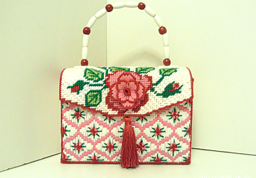 Red and Pink Rose Handbag