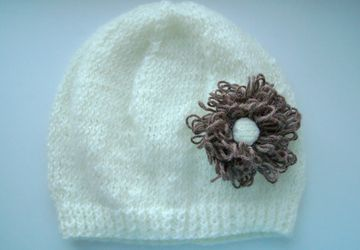 A hat with a flower