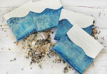 Paper Mache Sea Coasters