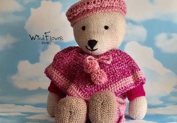 Hand crafted, one of a kind teddy bear - Chamomile.