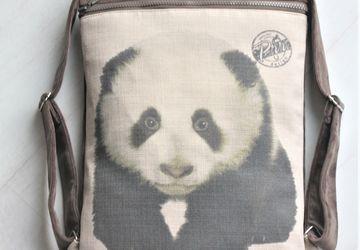Cute panda print rucksack