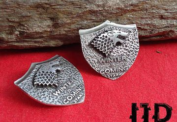 House Stark Brooch - Stark Brooch Pin - Game Of Thrones - Game Of Thrones Jewelry - Stark Emblem - Stark Sigil Brooch Pin - Winterfell Pin