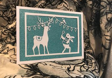 A Christmas Wish papercutting template