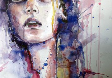 "A watercolor painting ""Passion"""
