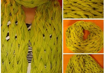 Scarf knitted by hand