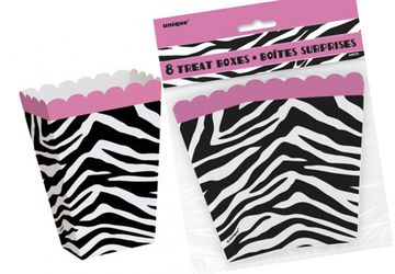 Hens Night Supplies – 8-Pack Zebra Treat Boxes
