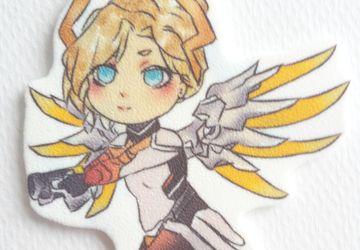 Cute Mercy Overwatch Keychain