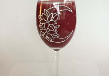 Handmade decorative wine glass