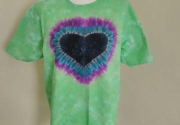 Cursed Heart Tie Dye T-shirt, Unisex Clothing, Tie Dye, Heart, Love, Boho, Hippy, Men's T-shirt, Women's T-shirt