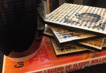 The Legend of Sleepy Hollow  |  Upcycled Book Page Coasters