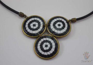 Portuguese Cobblestone Indigo Necklace - CIDC-8-28