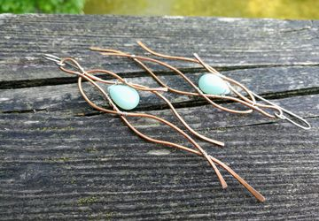 Blue Amazonite Mixed Media Earrings