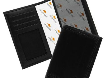 A leather cover for driver's license CANGURIONE 3307-001 DP Black