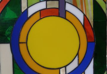 Round stained glass (Tiffany technique)