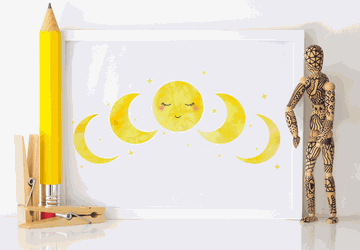 Moon phases, nursery wall decor