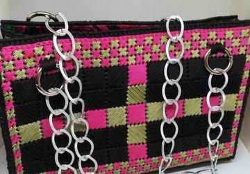 Handbag Canvas Plastic Bag Free Shipping!!! /Handmade/Embroidery Canvas/Crochet Canvas/Free Style Canvas/Lining Apply/Bohemian Bag/Ethic Bag