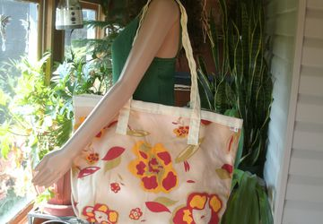 ON SALE Extra Large Light Weight Home Decor Fabric Tote