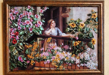 "A picture ""A girl at the balcony"""