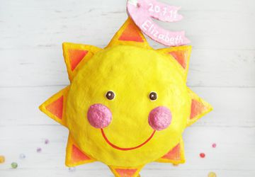 Sun Ornament, new born girl gift