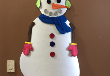 Felt Snowman Decorating Activity