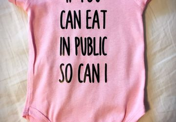 If You Can Eat In Public So Can I Baby Boy Girl Onesie Breastfeeding Infant Bottom Button Shirt Breast milk Advocate Tee Public Eating Milk