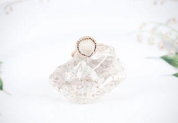 Copper Sea Shell Ring Size 6 1/4