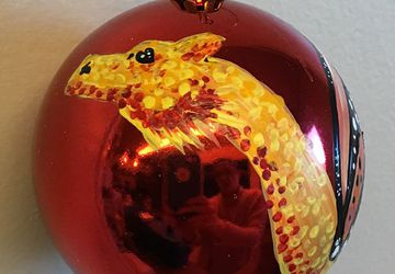 Golden Dragon Shatter resistant Ornament