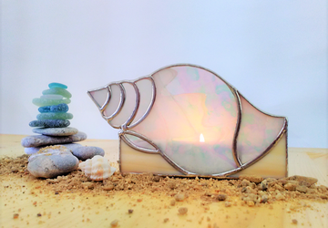 Seashell Candle Holder for Summer Evenings and Bathtime Relaxation
