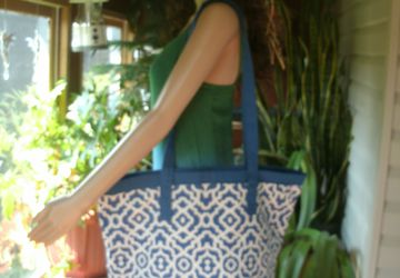 Extra Large Shopping Tote made with Waverly Home Decor Fabric