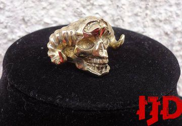 Demon Ring - Satanic Ring - Golden Demon Ring - Golden Ring - Satanic Jewelry - Demon Jewelry - Black Metal Ring - Lucifer Ring - Baphomet