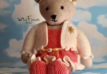 Hand crafted, one of a kind teddy bear - Lucerne.