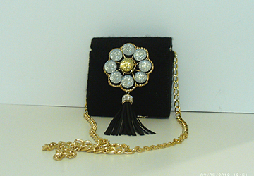 Jeweled Gold and Black Clutch