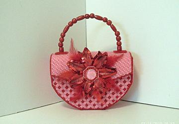 Red & Pink Floral Handbag