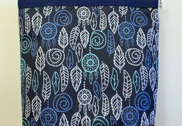 "Textile bag ""Foliage"" (blue)."