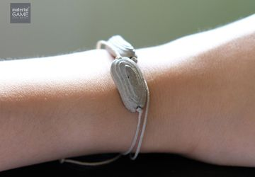 Unique Gifts - Concrete jewelry | Minimalist design | Sliding bracelet | CONTOURcrete series | Simple jewelry | Grey | 2 colors (Women)